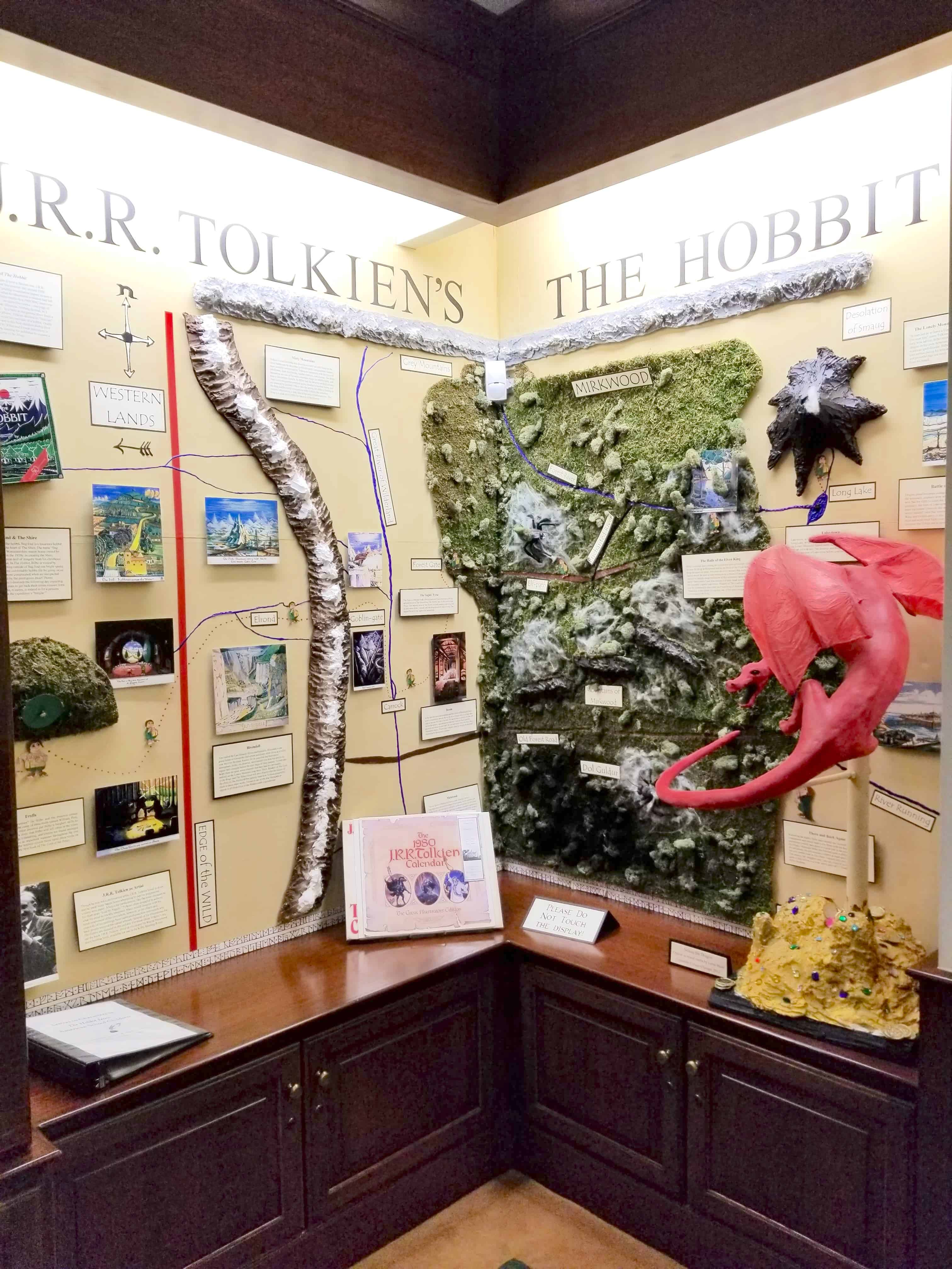 JRR Tolkien literary display