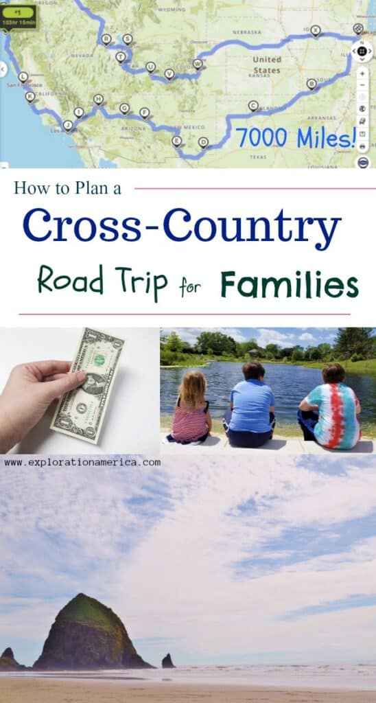 road trip map with family travel