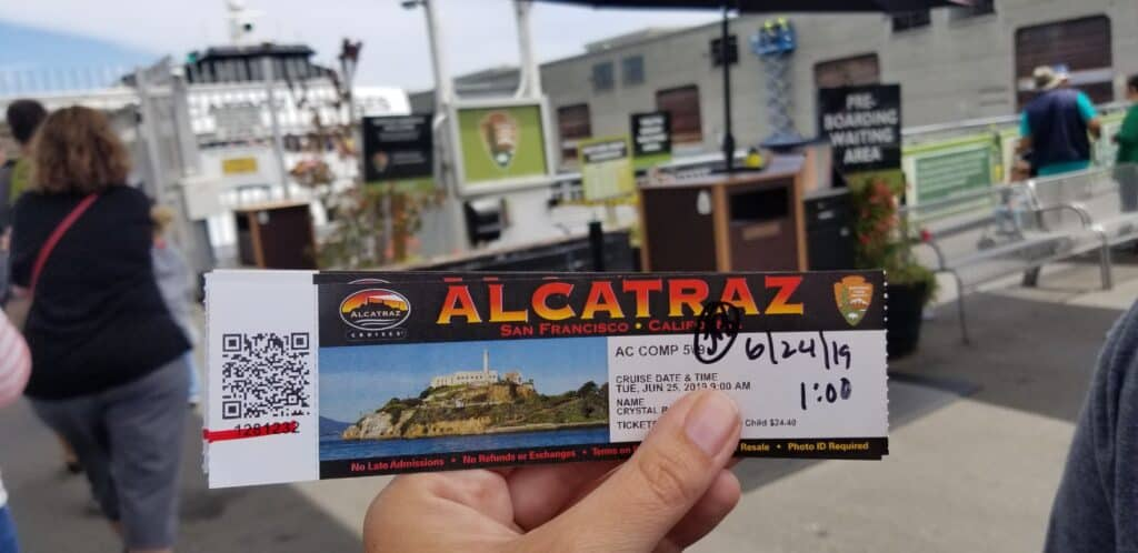 Alcatraz Cruises ferry ticket