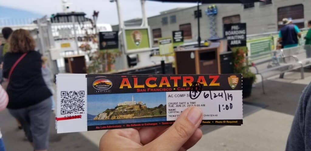 Alcatraz Cruises ferry ticket