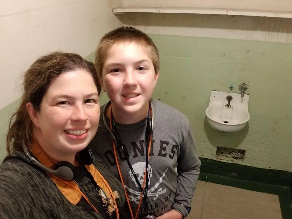 visiting cell block Alcatraz prison