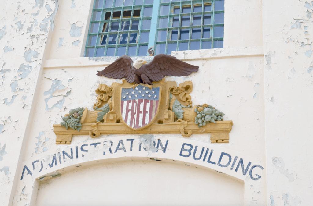 fading administration building eagle alcatraz