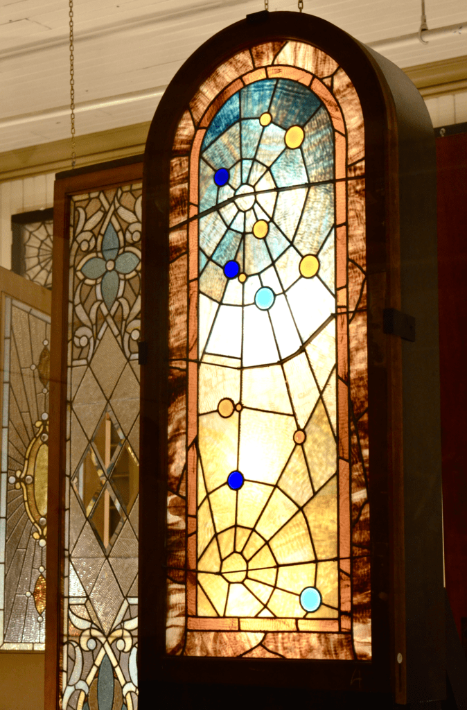 stained glass window Winchester Mystery House