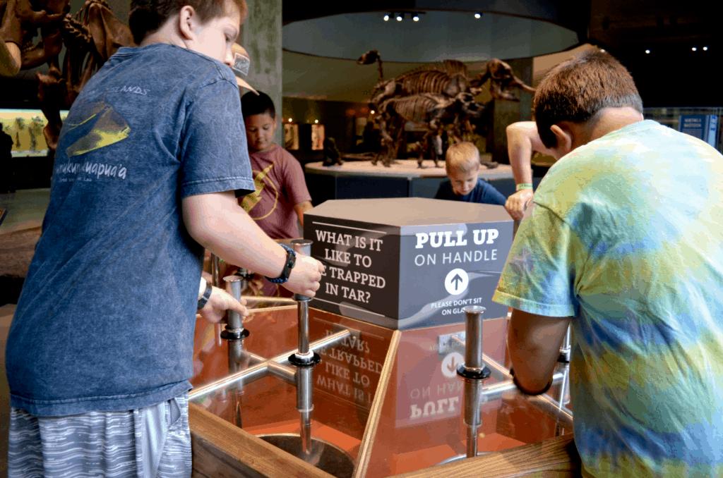 tar pit exhibit