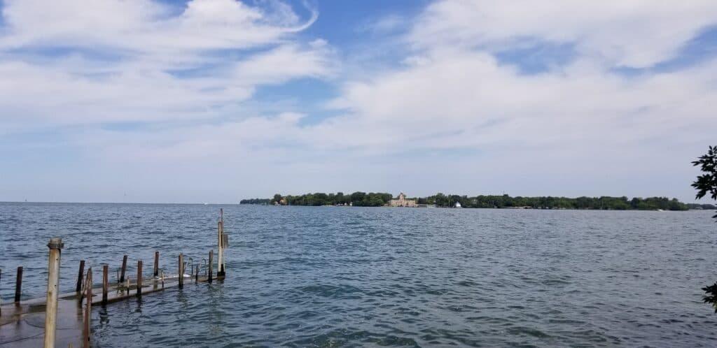 Lake Erie Massie Cliff Preserve dock