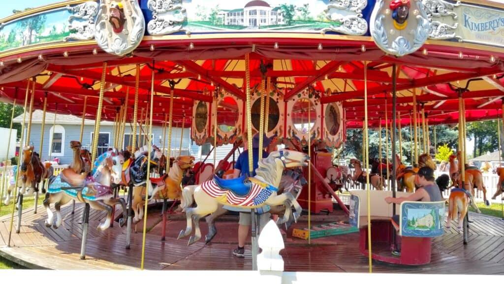 Allen Herschell Wooden Carousel