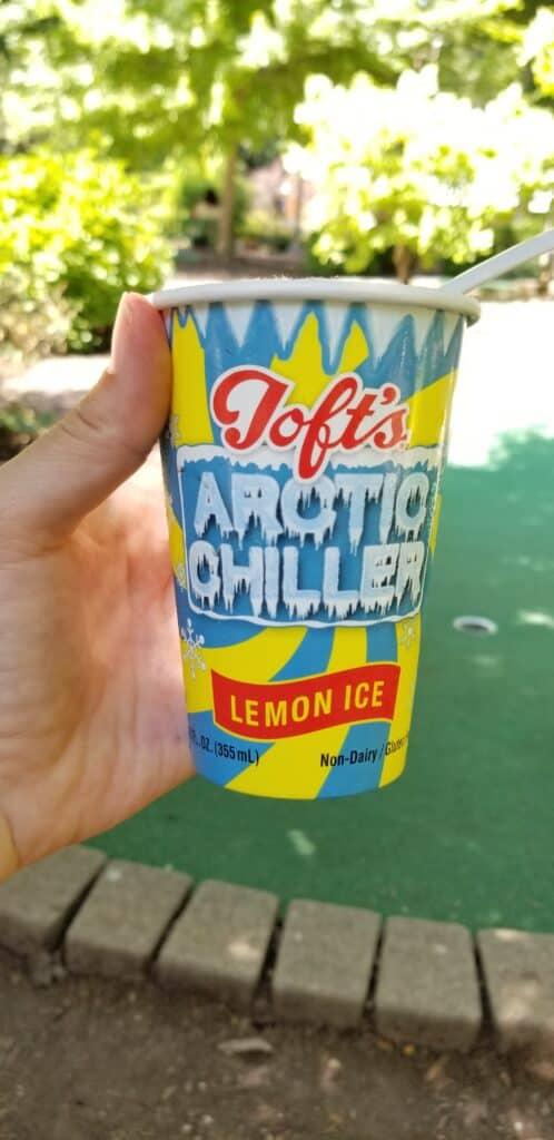 lemon ice frozen treat