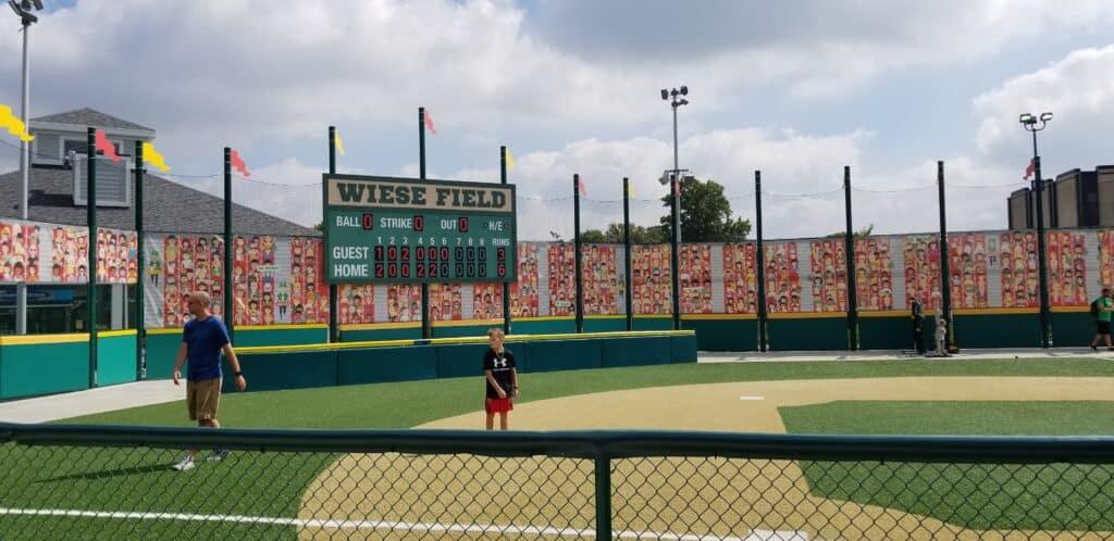 kids baseball field Indy Children's Museum