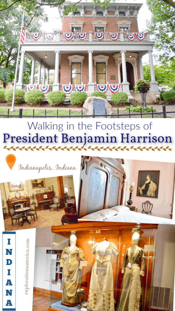 photo tour inside Benjamin Harrison home