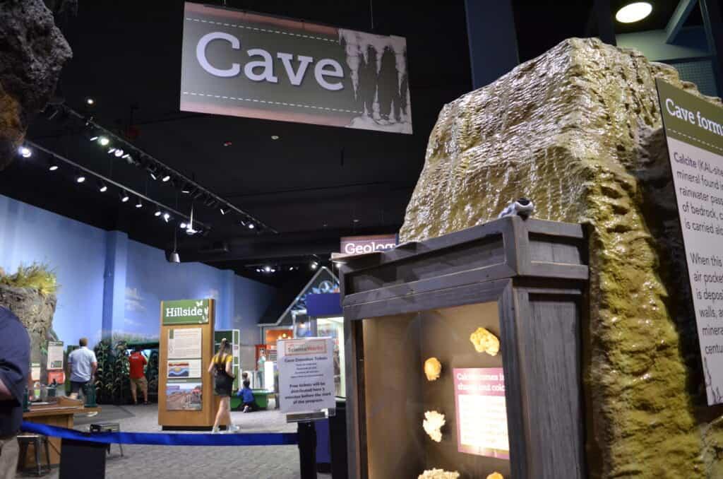 cave exhibit at children's museum