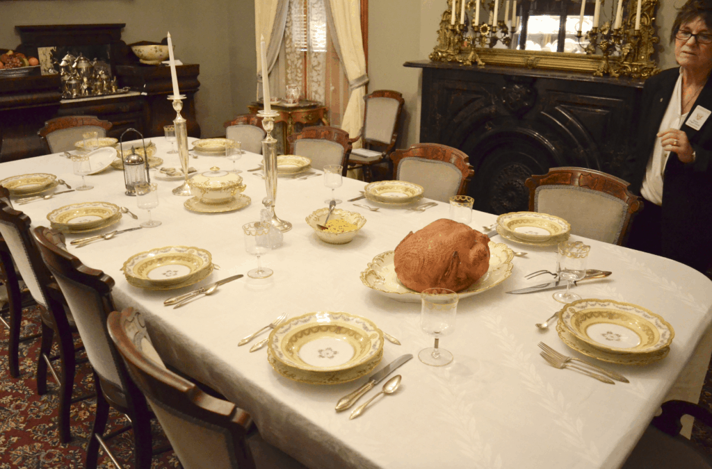 Benjamin Harrison home fine dining room