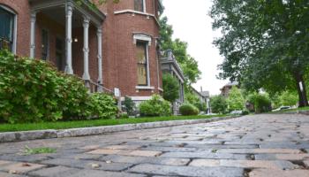 Benjamin Harrison home brick walkway path