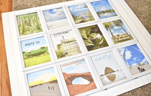 How to Make a Travel Art Wall on a Budget for ONLY $24!