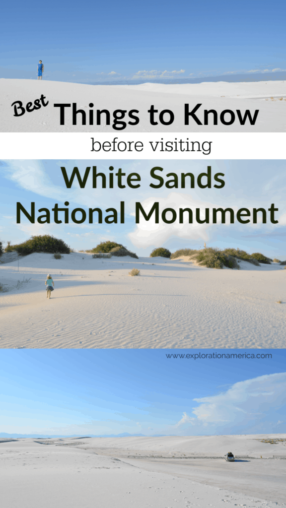 White Sands National Monument tips