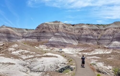 Hiking on the Blue Mesa Trail in Petrified Forest National Park