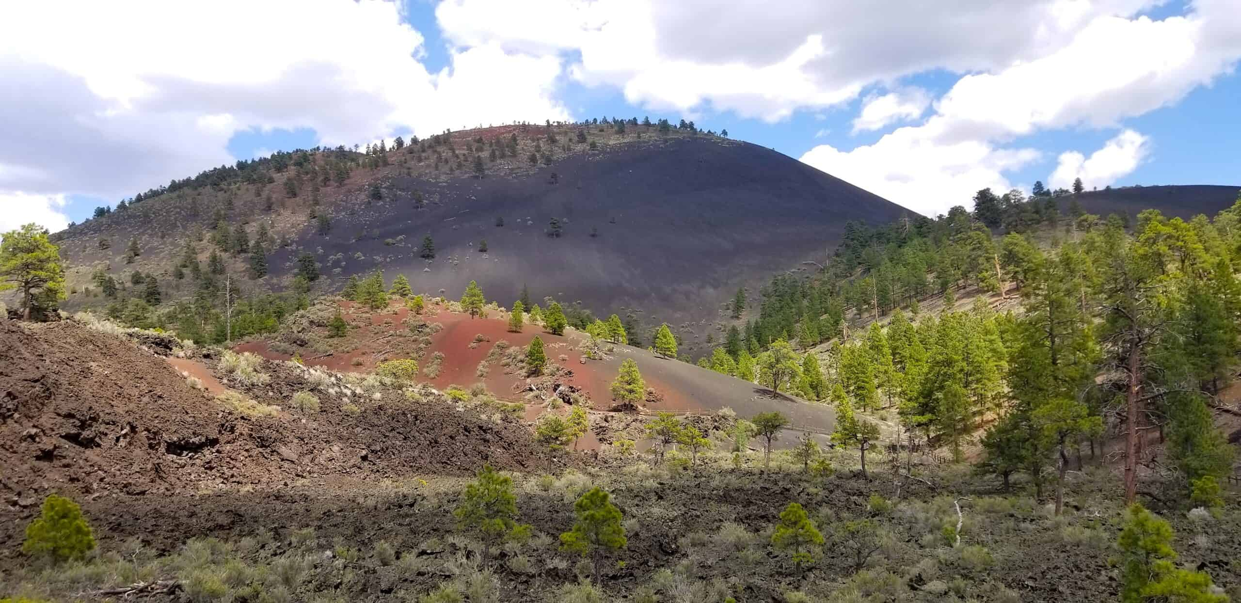 scenic view of a volcano at Sunset Crater National Monument