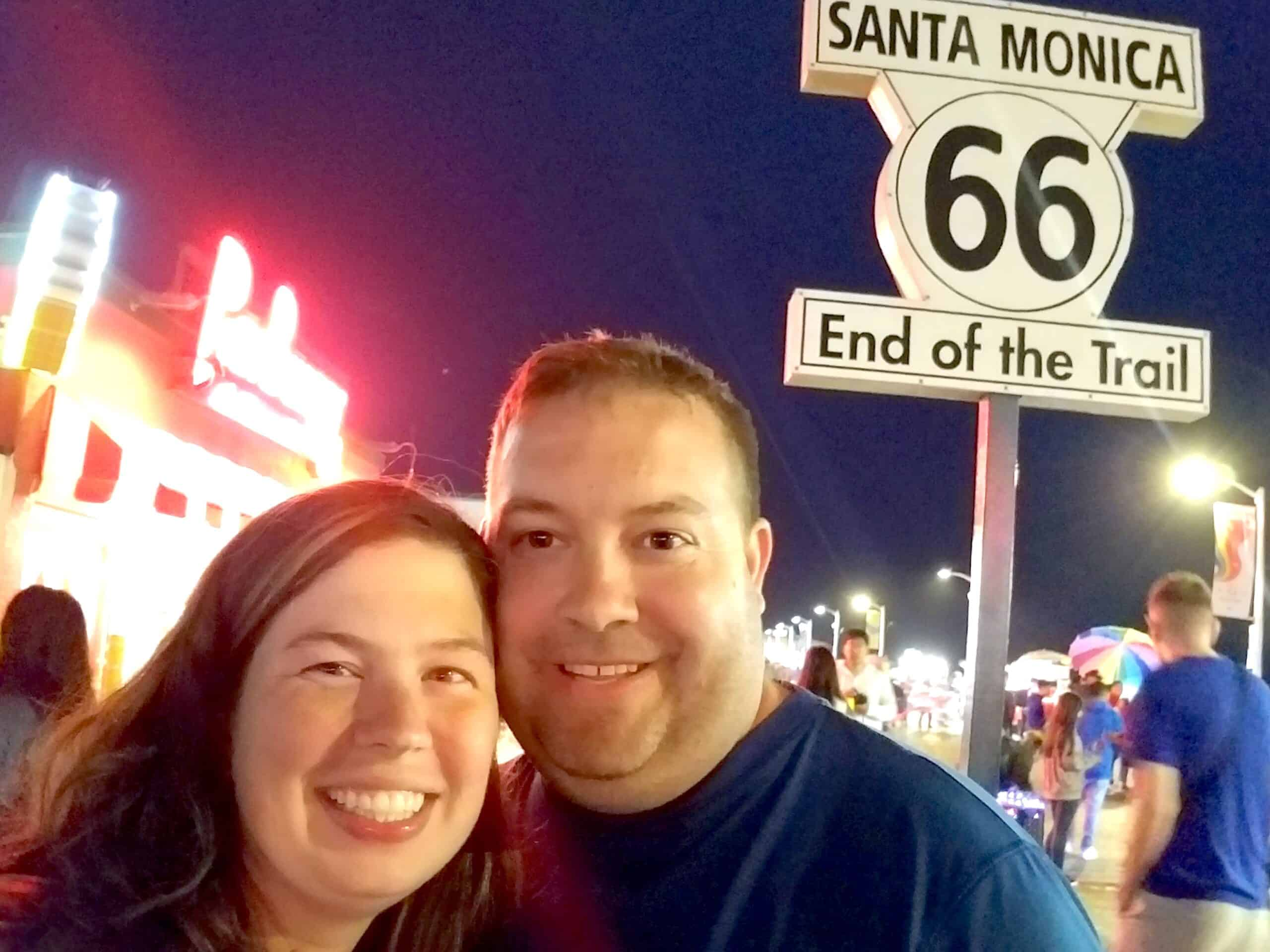 couple at Santa Monica Route 66