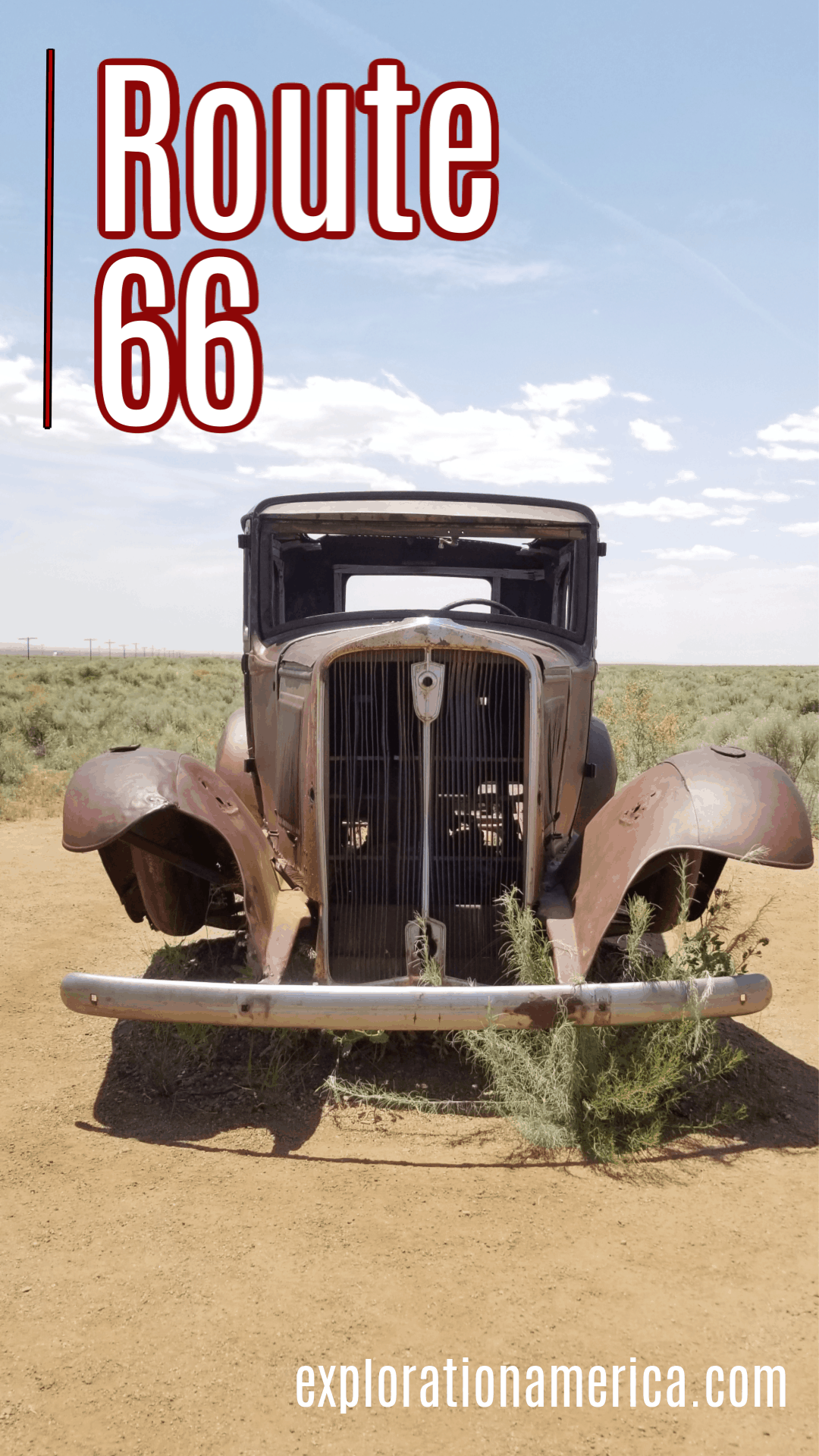 vintage car on route 66