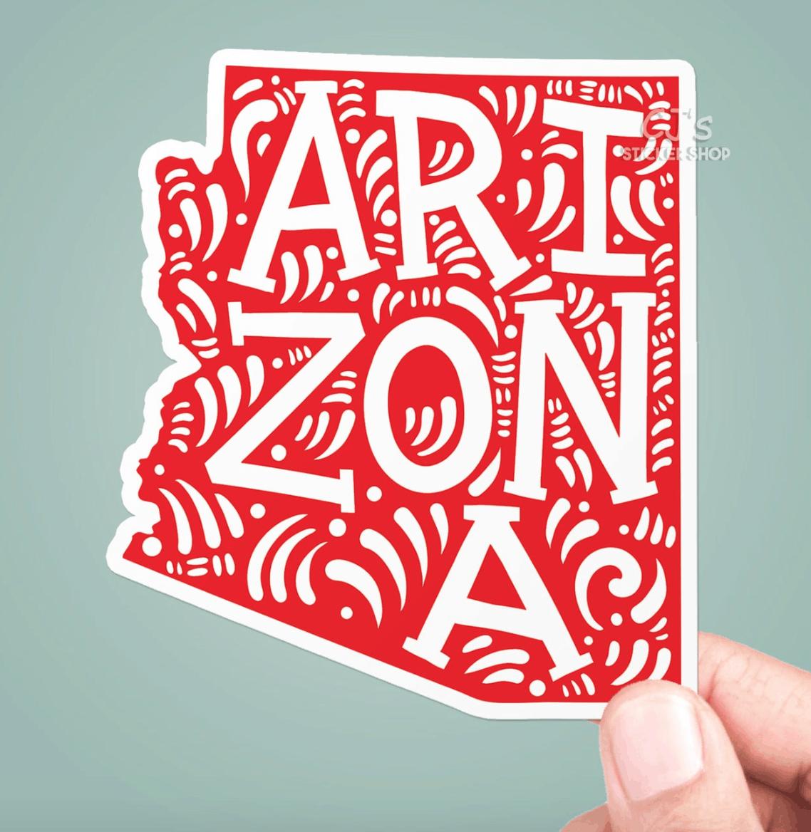 arizona vinyl decal sticker