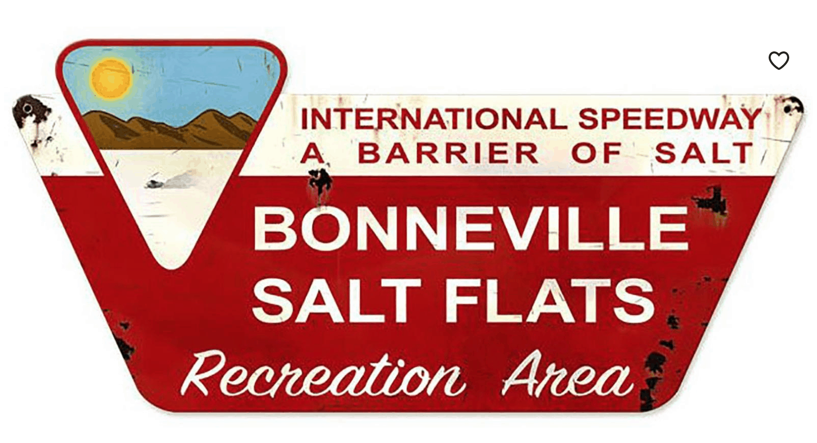 metal Bonneville salt flats sign