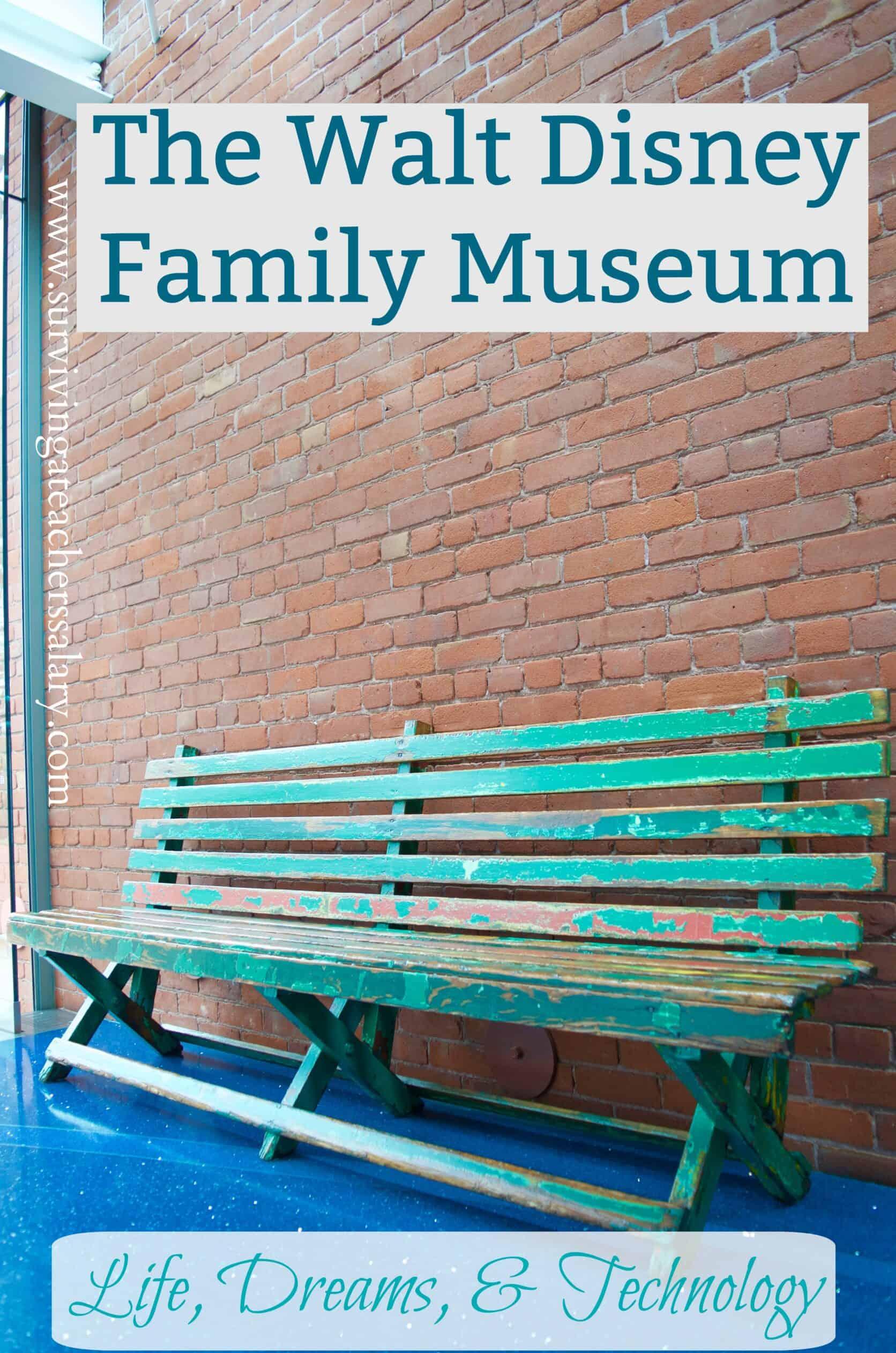 Walt Disney Family Museum Bench