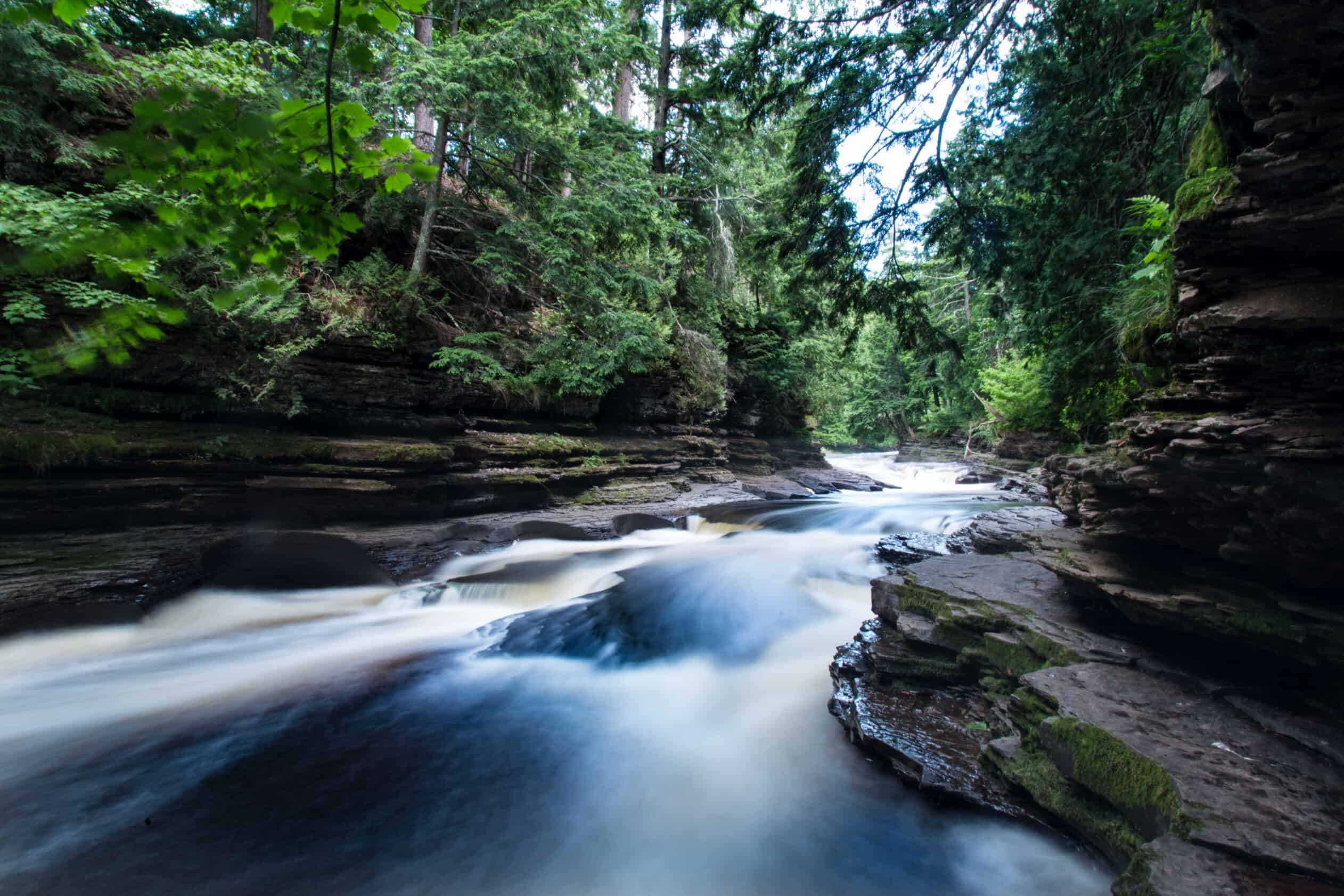 Manabezho Falls Upper Peninsula Michigan