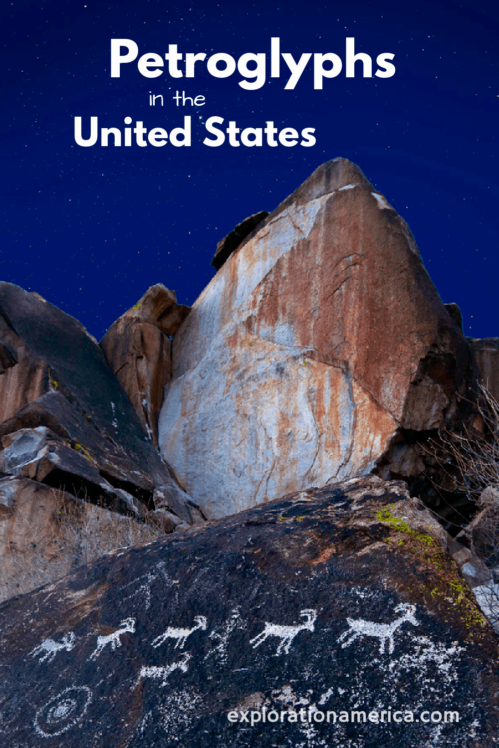 petroglyphs in the United States