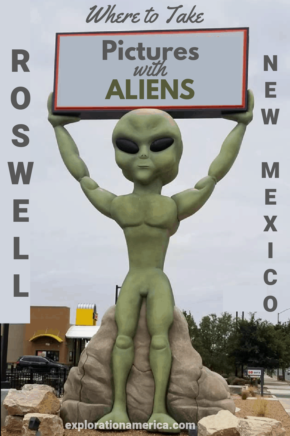 alien sign in Roswell New Mexico