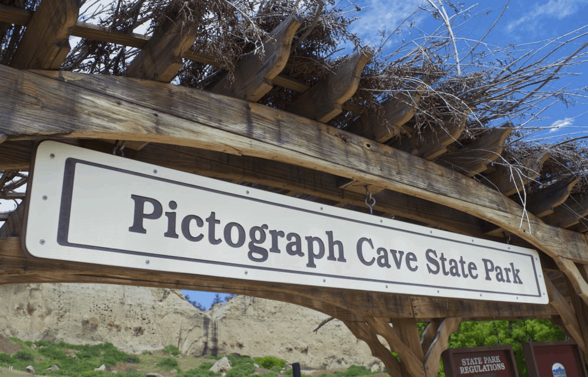 sign at Pictograph State Park Billings Montana