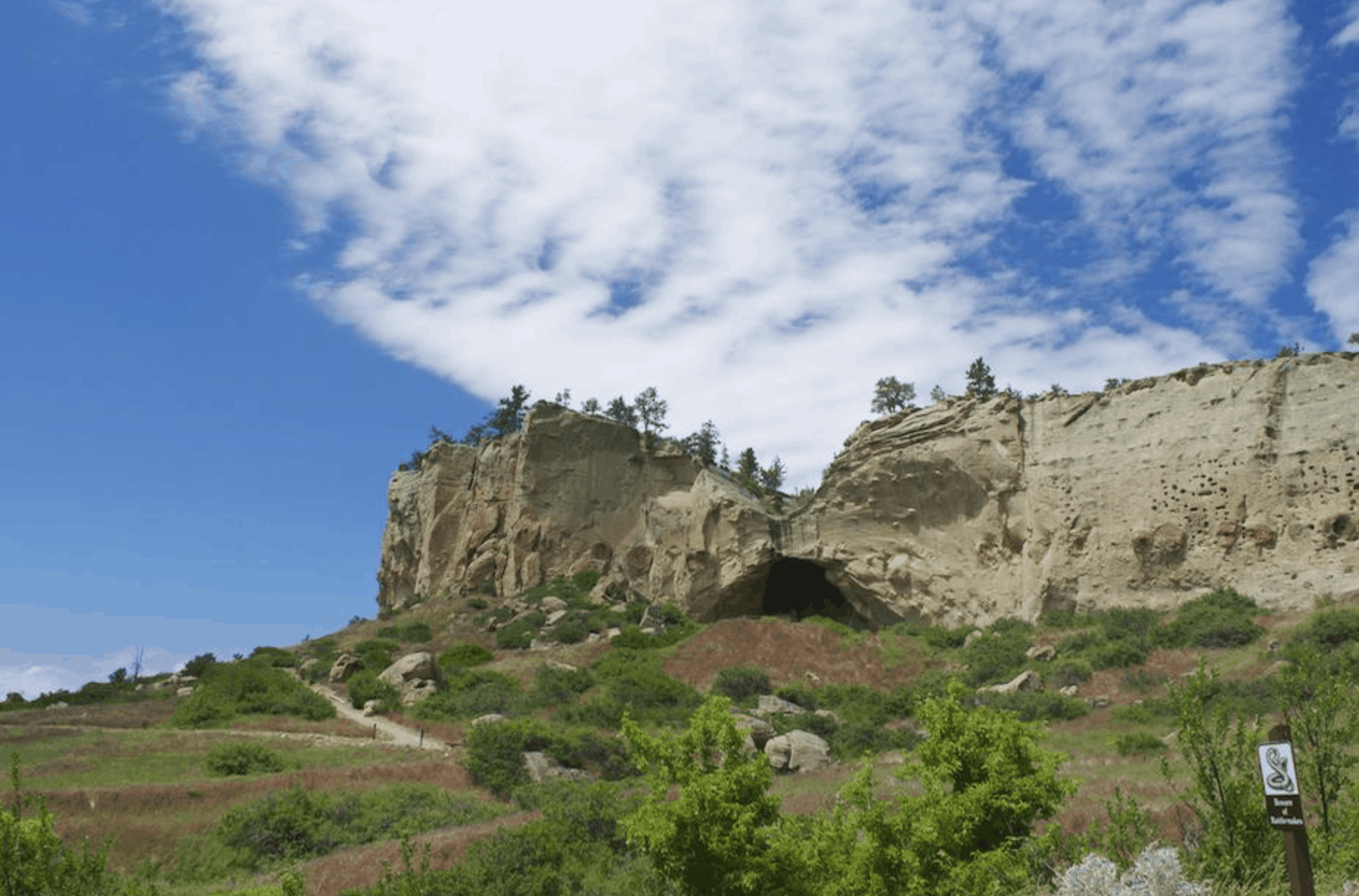 scenic view cave at Pictograph State Park Billings Montana