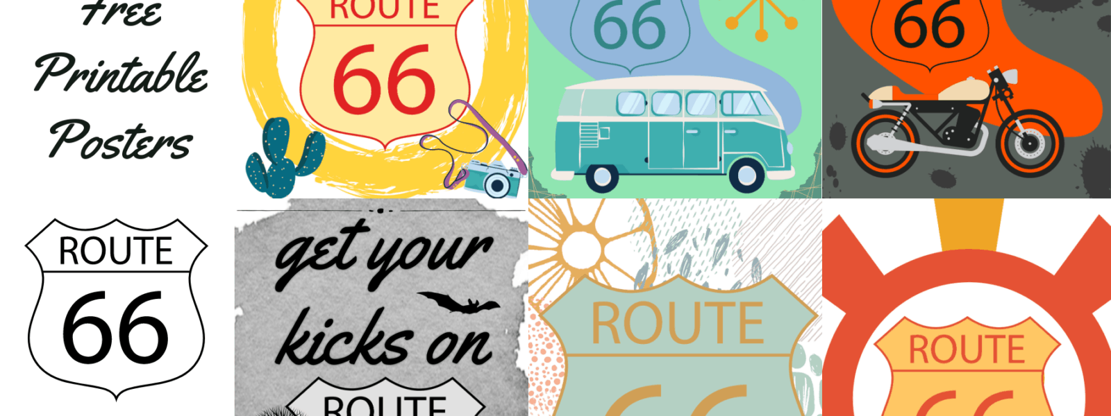 FREE Printable Route 66 Travel Wall Art Gallery Prints!