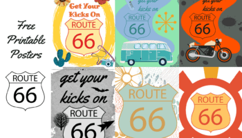 free printable Route 66 posters
