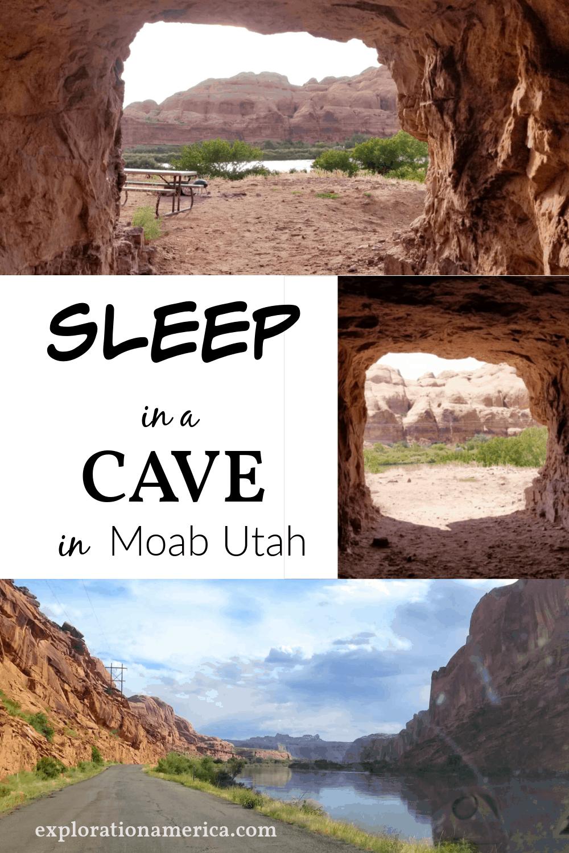 Camping in a Cave in Moab Utah