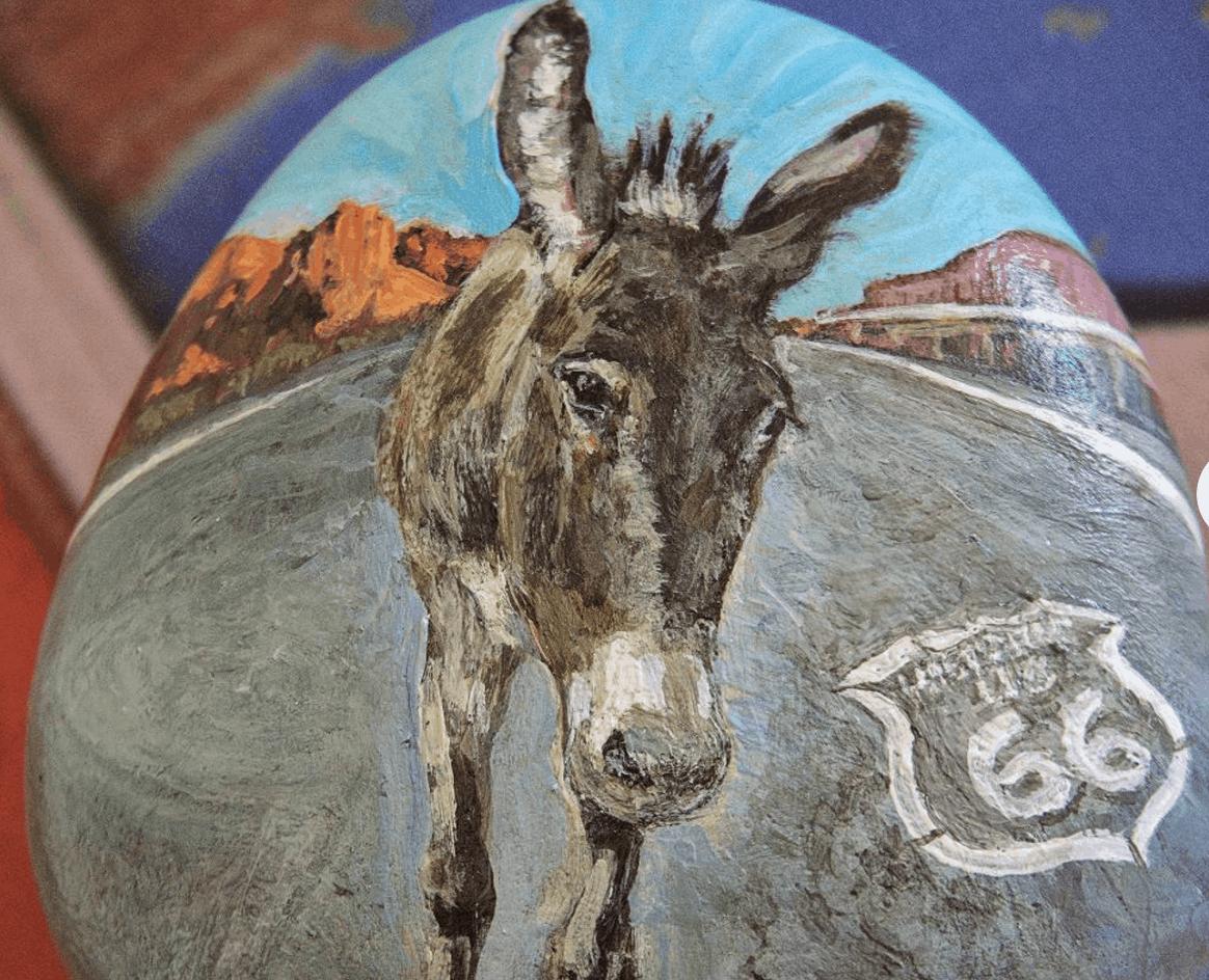 oatman burros route 66 rock art etsy
