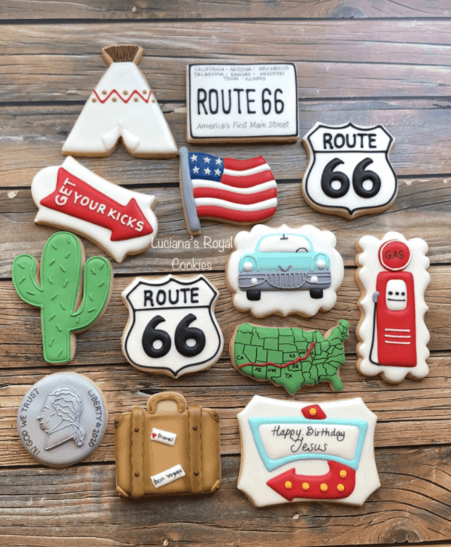 custom route 66 cookies etsy