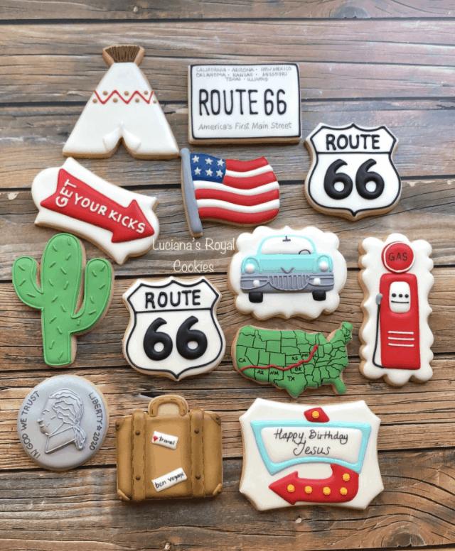 custom route 66 cookies etsy