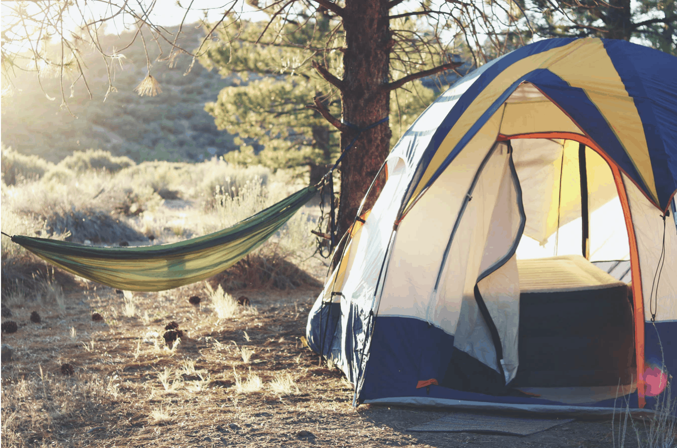 tent camping stock