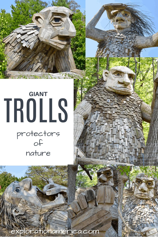 giant trolls sculptures illinois