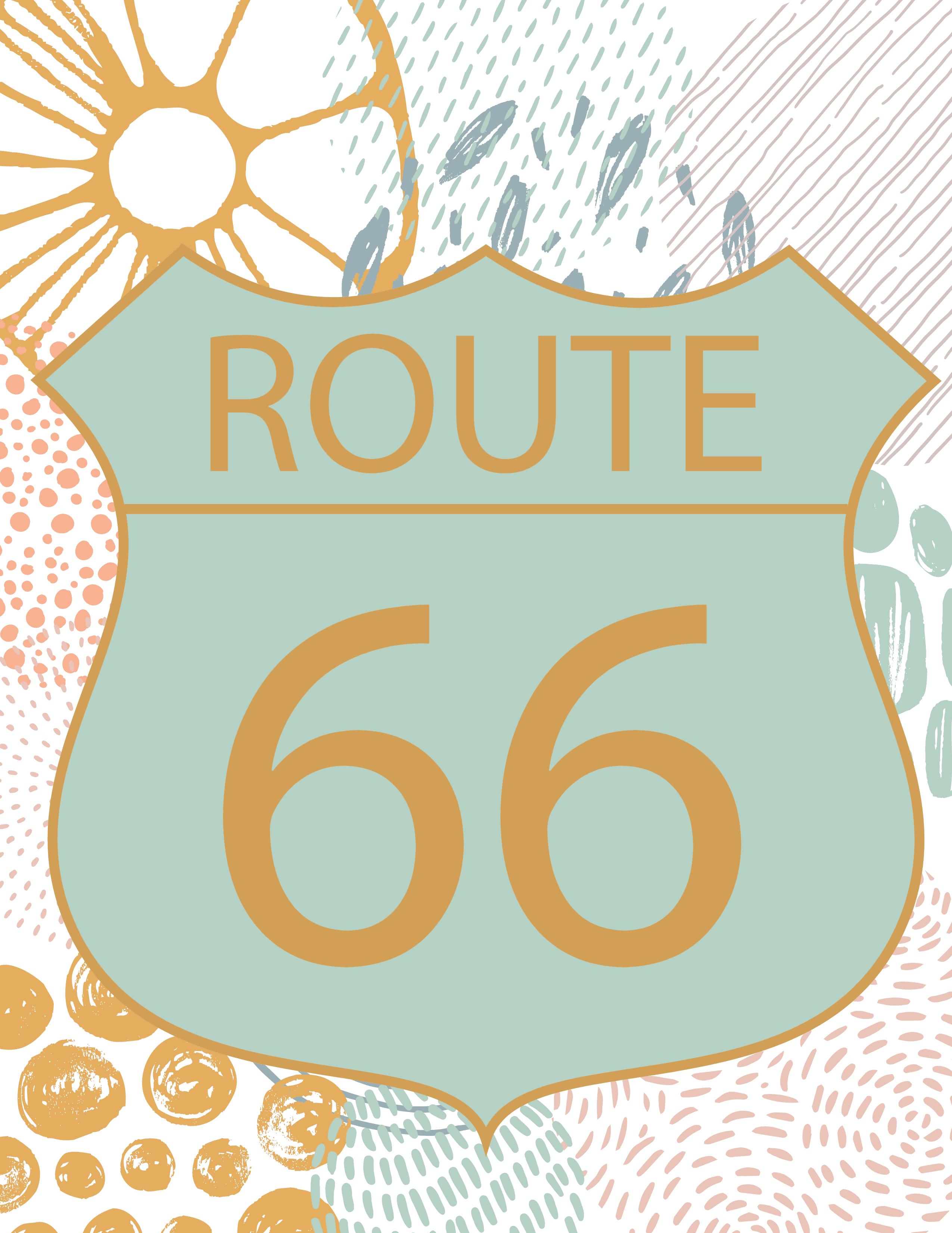 paisley route 66 wall art