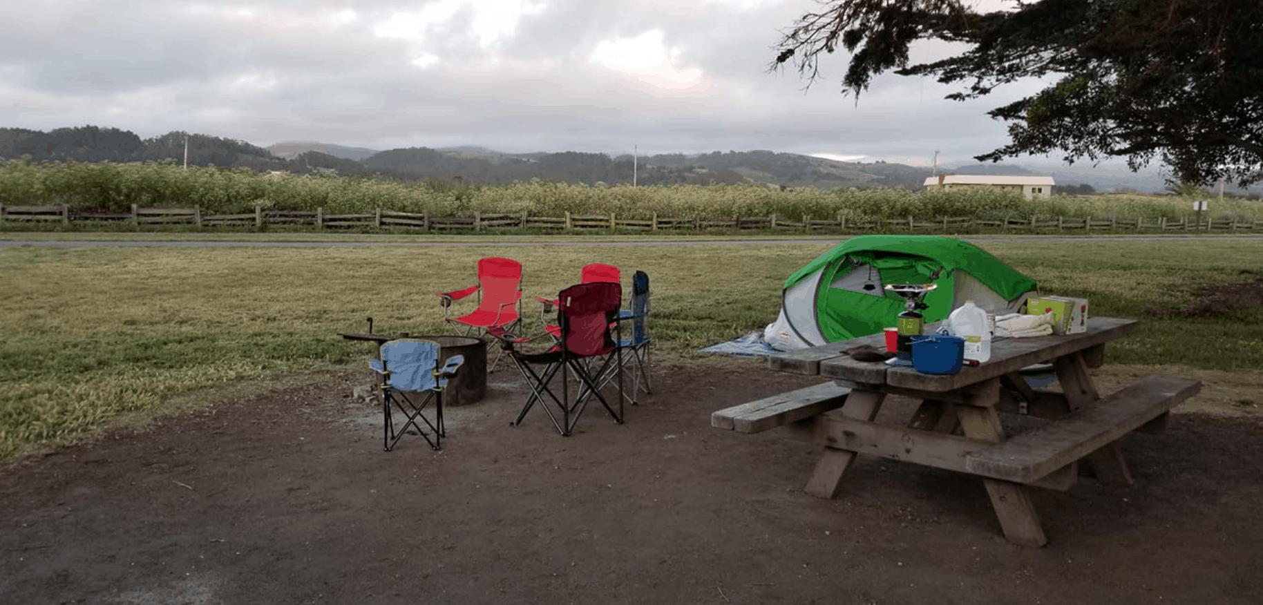 half moon bay francis beach camping