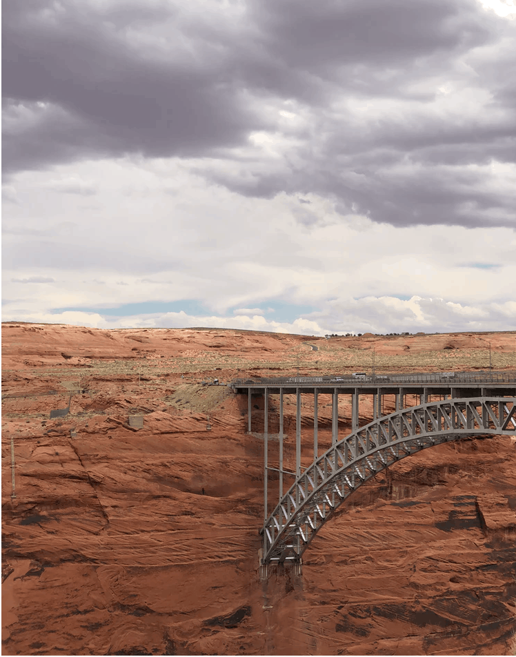 scenic view of bridge in Glen Canyon National Recreational Area
