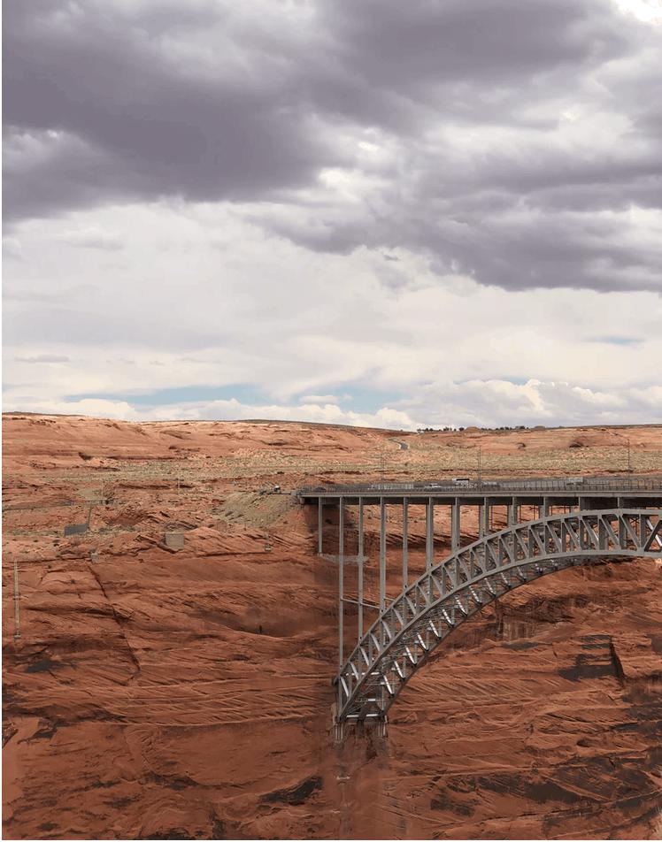 scenic view of bridge in Glen Canyon National Recreational Area