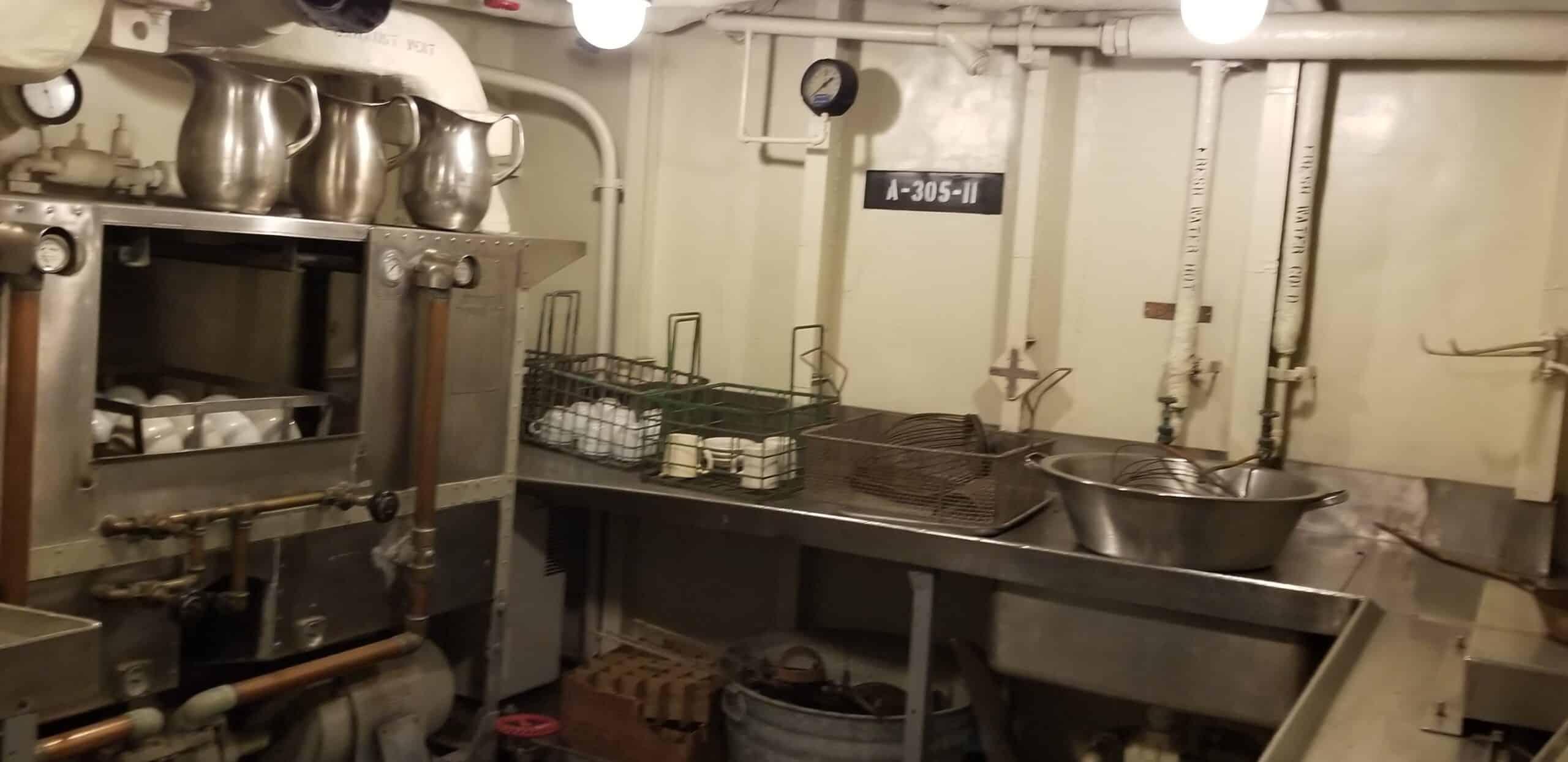 mess hall on the USS Kidd