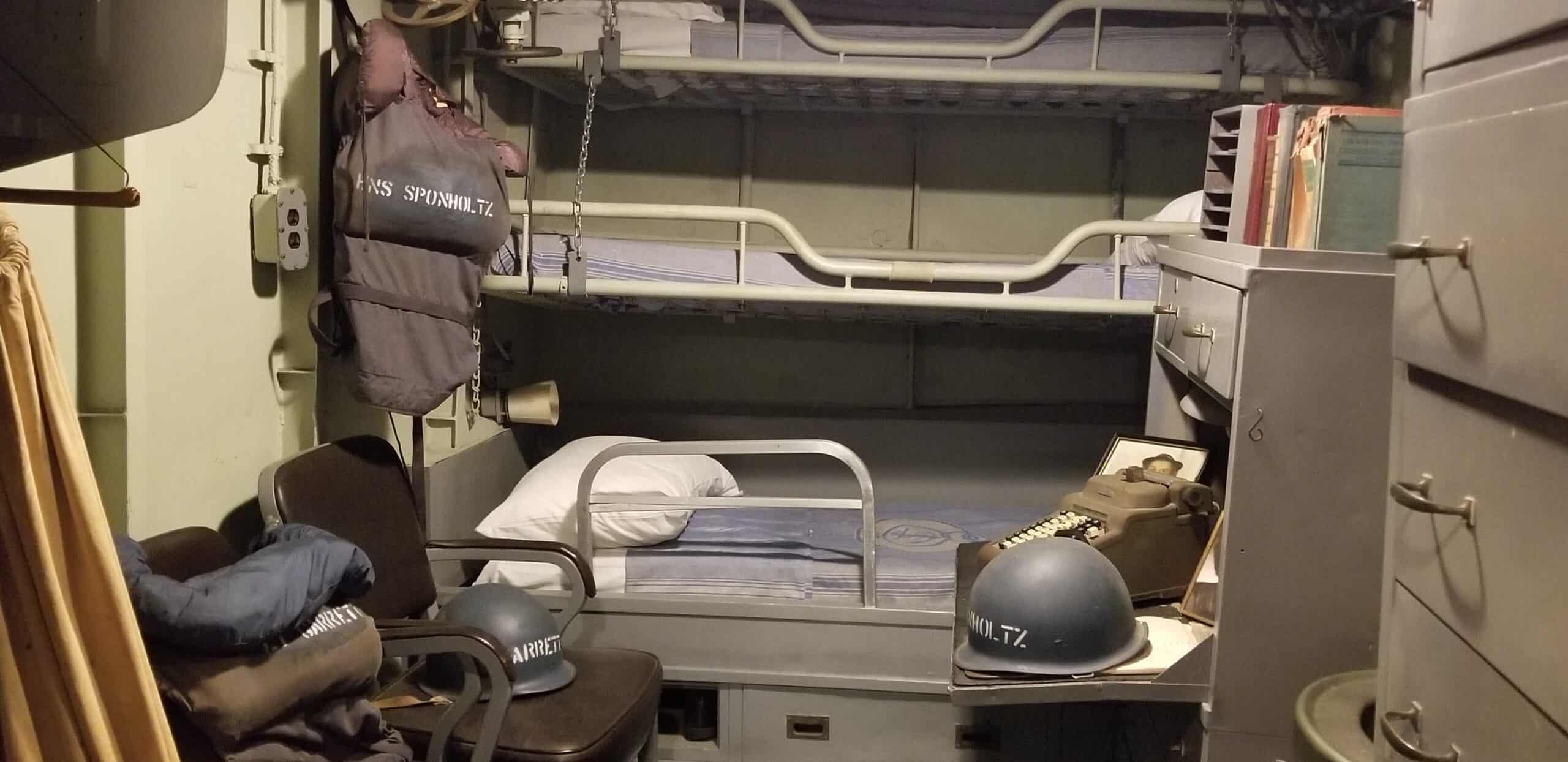 sleeping area on military warship