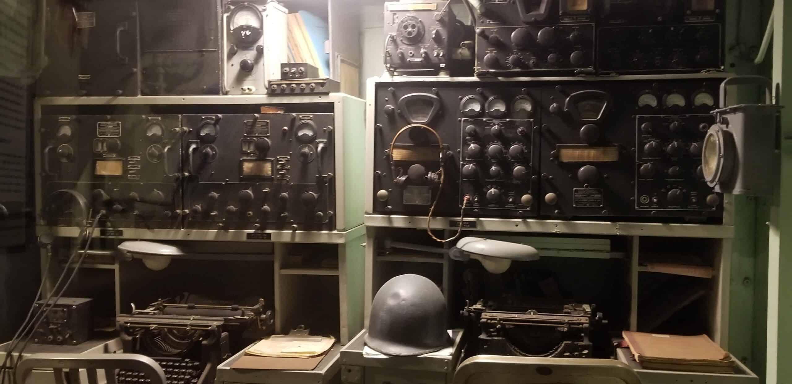 military radio room USS Kidd