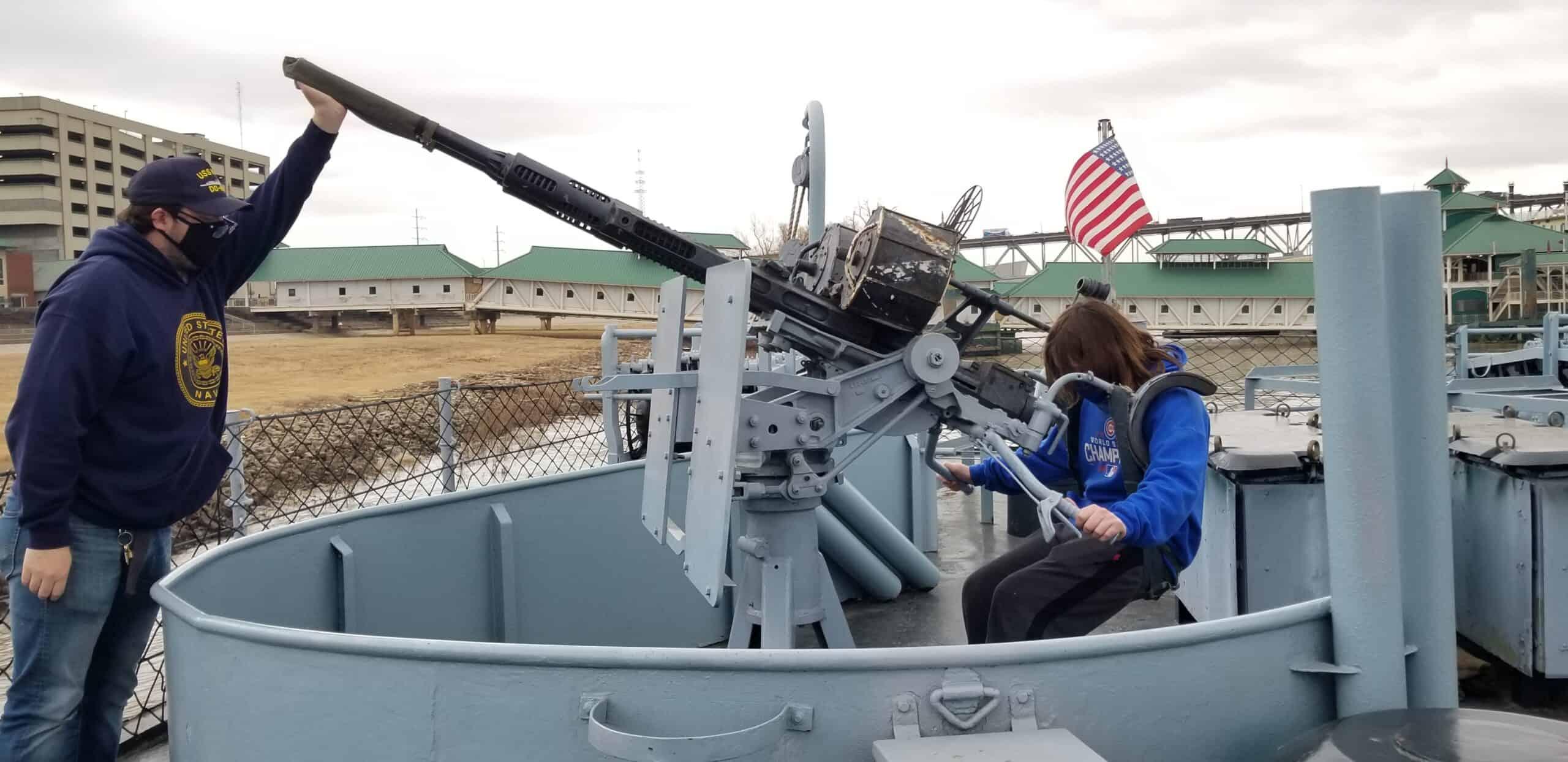 teenage boy on USS Kidd