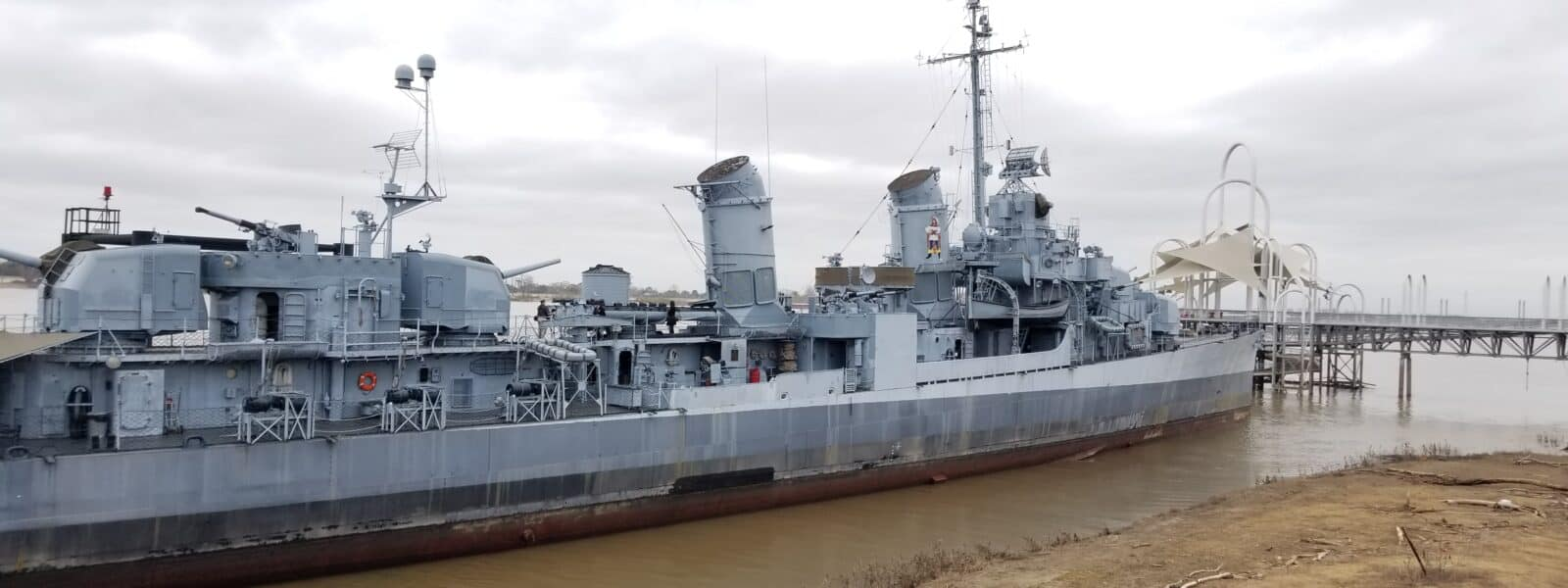 Visiting the USS Kidd in Baton Rouge, Louisiana