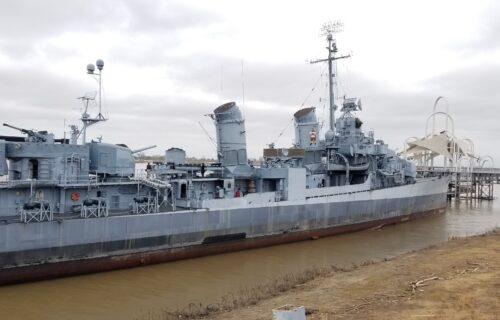 Visiting the USS Kidd in Baton Rouge, Louisiana