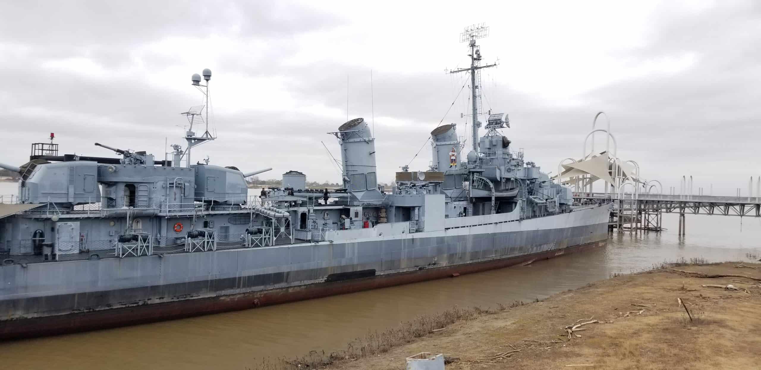 USS Kidd warship in Baton Rouge