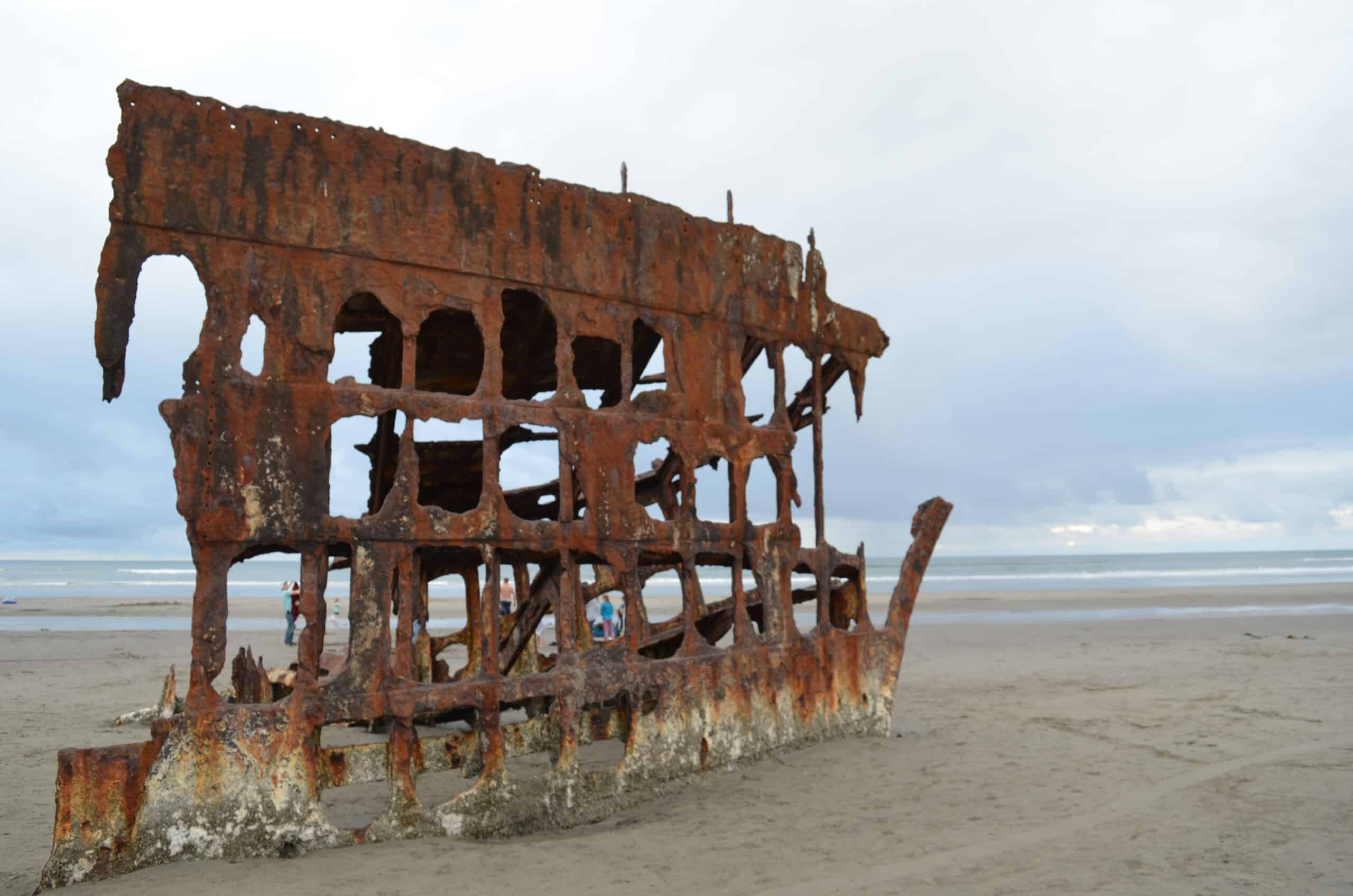 rusty shipwreck Peter Iredale